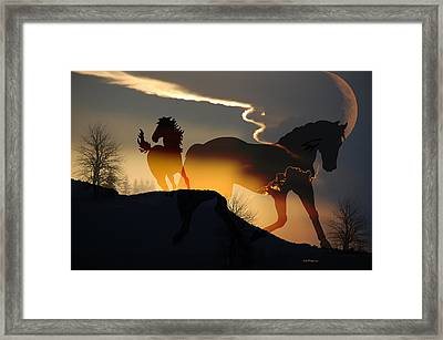 Spirits In The Sky Framed Print