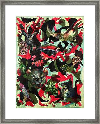 Spirits Of The Forest Framed Print by Peter Bonk