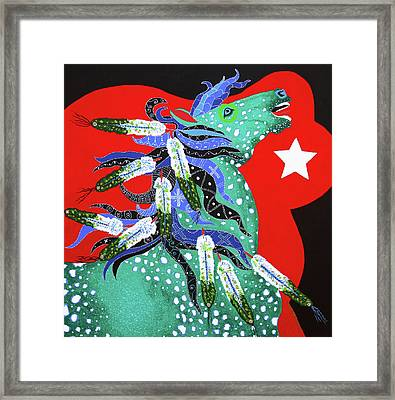 Spirits Rise Framed Print by Debbie Chamberlin