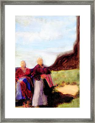 Framed Print featuring the painting Spirits They Are Here by FeatherStone Studio Julie A Miller
