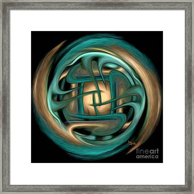 Spiritual Art - Healing Labyrinth By Rgiada Framed Print