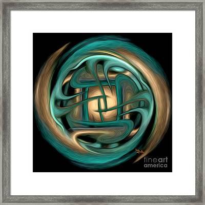 Spiritual Art - Healing Labyrinth By Rgiada Framed Print by Giada Rossi