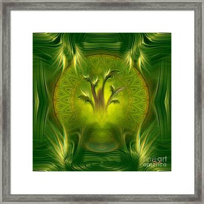 Spiritual Art - Tree Of Wisdom By Rgiada Framed Print