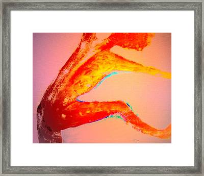 We Could Always Do Some Spiritual Dancing After The Rain She Suggested  Framed Print by Hilde Widerberg