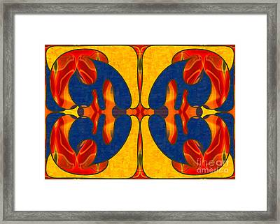 Spiritual Dreaming Abstract Art By Omashte Framed Print by Omaste Witkowski