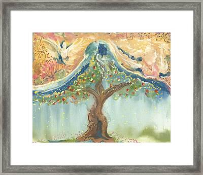 Spiritual Embrace Framed Print