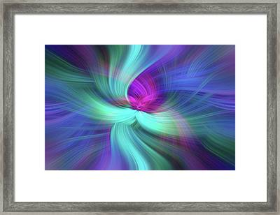 Spiritual Freedom. Mystery Of Colors Framed Print by Jenny Rainbow