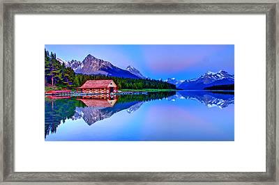 Spiritual Lake Framed Print by Scott Mahon