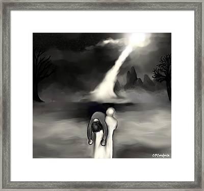 Spiritual Rescue Framed Print by Carmen Cordova