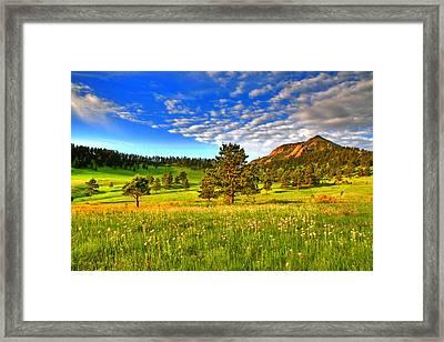 Spiritual Sky Framed Print by Scott Mahon