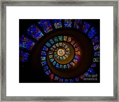 Spiritual Spiral Framed Print by Inge Johnsson