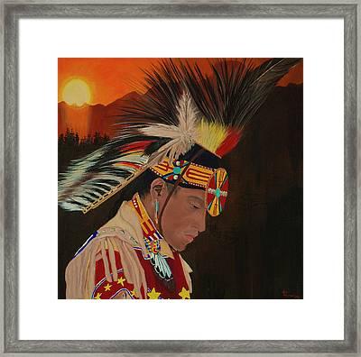 Spiritual  Sunrise   Framed Print