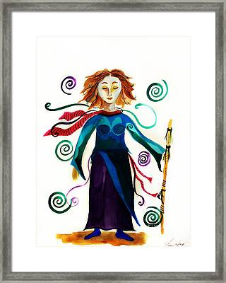 Spiritual Warrior Framed Print by Jean Fry