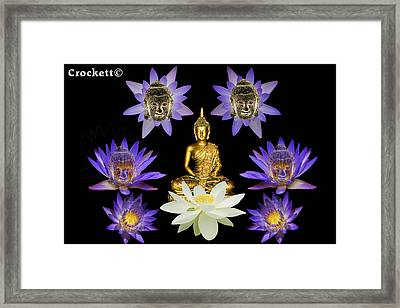 Spiritual Water Lilly Framed Print