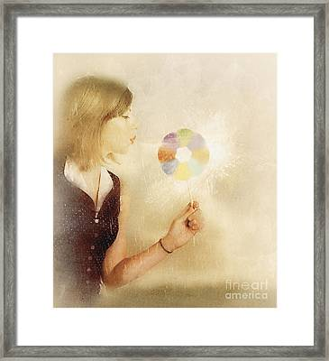 Spiritual Woman Channelling Her Soul Energy Framed Print