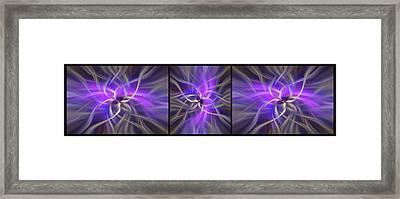 Spirituality. Black Framed Triptych Framed Print by Jenny Rainbow