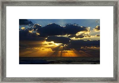 Spiritually Uplifting Sunrise Framed Print