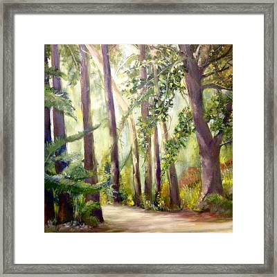 Spirt Of The Green Trees Framed Print