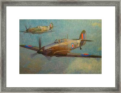 Spit And Hurri Framed Print by Terry Perham