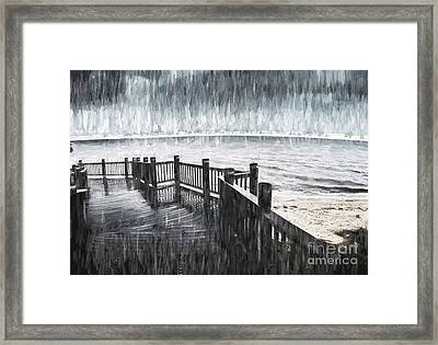 Spit In The Rain Framed Print by Jorgo Photography - Wall Art Gallery