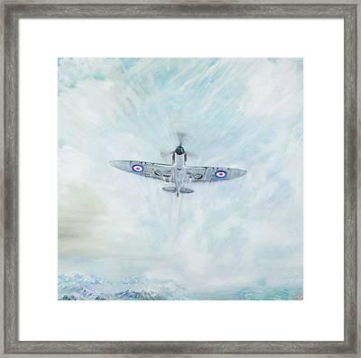 Spitfire   Ace Of Spades Framed Print