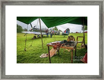 Spitfire Framed Print by Adrian Evans
