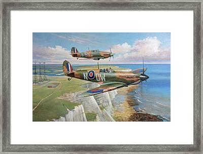 Spitfire And Hurricane 1940 Framed Print