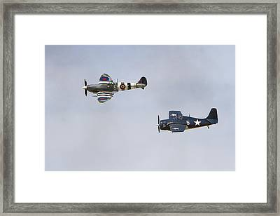 Spitfire And Wildcat Framed Print by Shoal Hollingsworth