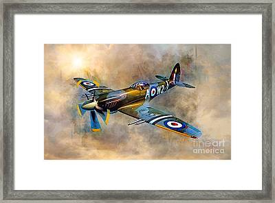 Spitfire Dawn Flight Framed Print