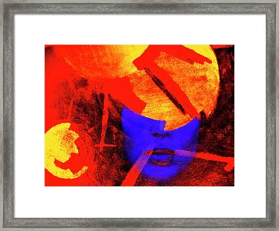 Spitfire - Female Portrait Framed Print