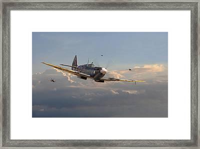 Spitfire - Homeward Framed Print by Pat Speirs