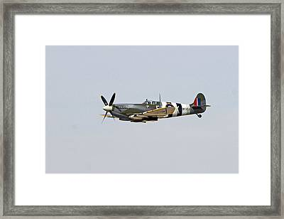 Spitfire In Flight Framed Print by Shoal Hollingsworth