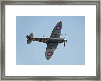 Spitfire Mk9 Framed Print by Ian Merton
