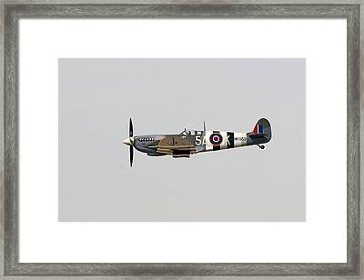 Spitfire Mk959 In Flight Framed Print by Shoal Hollingsworth