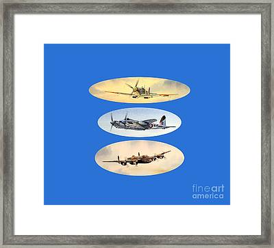 Spitfire Mosquito Lancaster Collage Framed Print by Bill Holkham