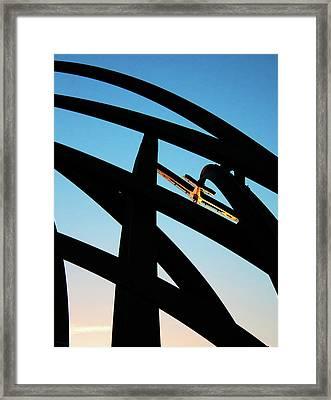 Spitfire On Fire Framed Print