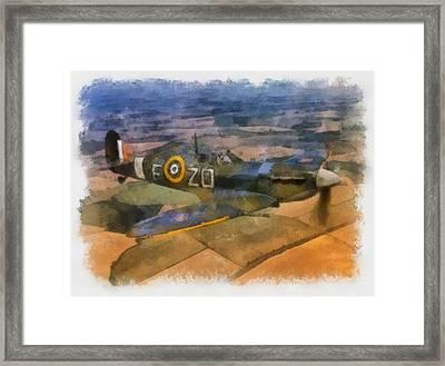 Spitfire Over England Framed Print