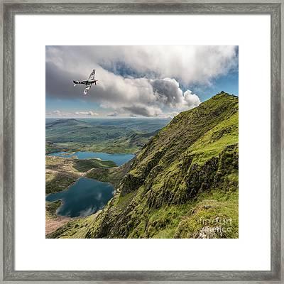 Spitfire Over Snowdon Framed Print