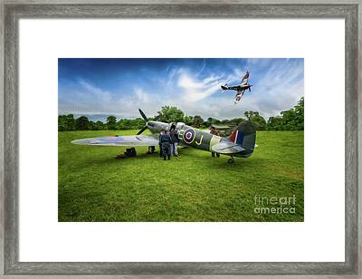 Spitfire Parade Framed Print