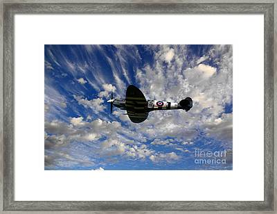Spitfire Skies Framed Print by Nichola Denny