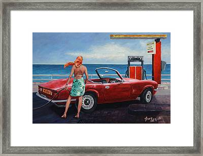 Spitfire Framed Print by Theo Michael