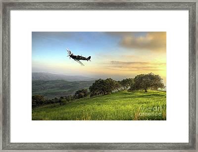 Spitfire Twilight Framed Print