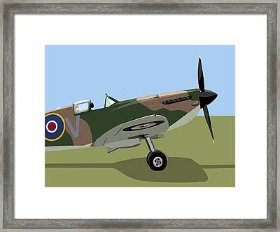 Spitfire Ww2 Fighter Framed Print by Michael Tompsett
