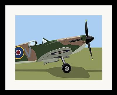 Fighterplane Framed Prints