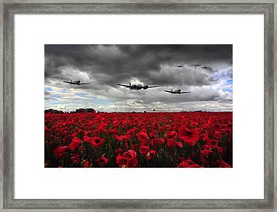 Spitfires And Blenheim Framed Print