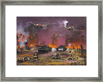 Retreat From Caen - June 7th 1944 Framed Print