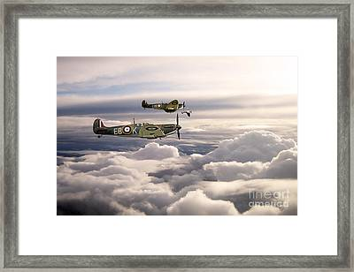 Spitfires On Patrol Framed Print by J Biggadike