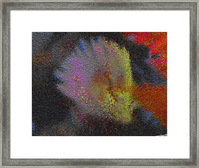 Splash - Abstract Digital Painting Framed Print by Merton Allen