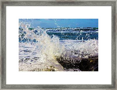 Wave Crash And Splash Framed Print