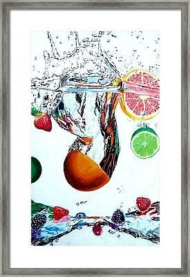 Splash Framed Print by Ashley Casterline